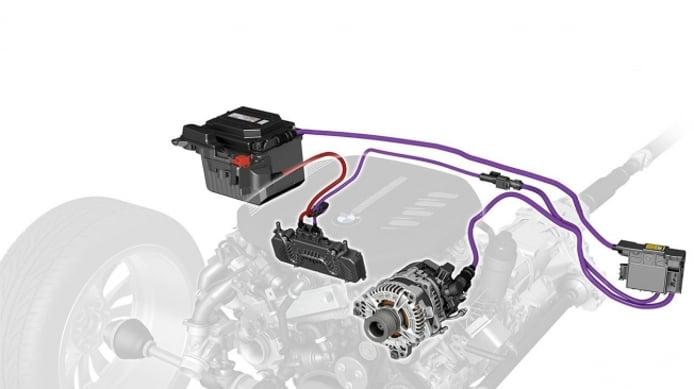 Sistema híbrido ligero de 48 voltios de BMW