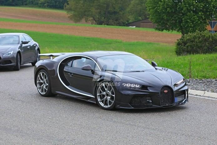Cazamos a Bugatti durante las pruebas de una misteriosa mula del Chiron
