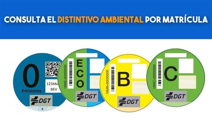 Consulta el distintivo ambiental por matrícula ¿qué pegatina de la DGT me corresponde?