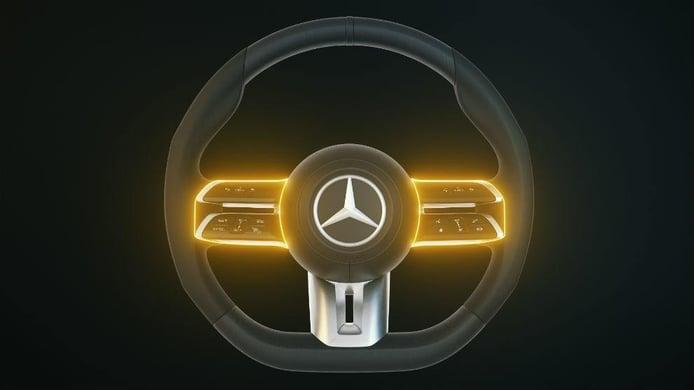 Así es el nuevo volante capacitivo que estrenará el Mercedes Clase S