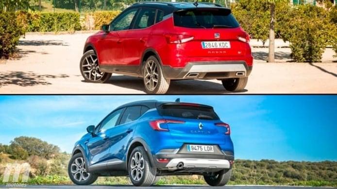 SEAT Arona TGI vs Renault Captur GLP