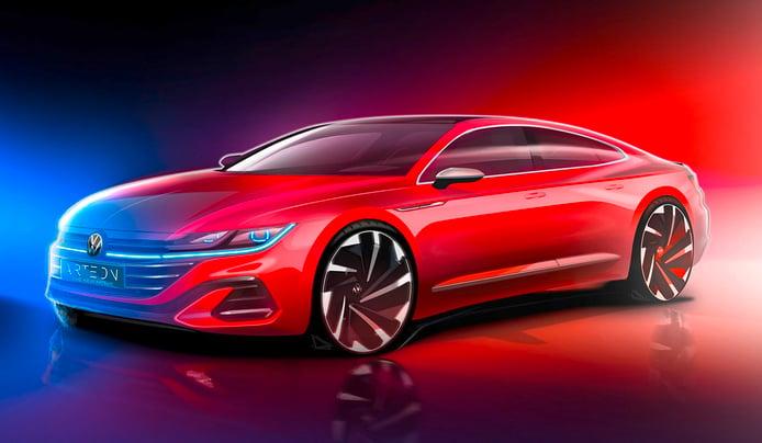 Volkswagen adelanta la presentación del Arteon Facelift 2021 con un boceto