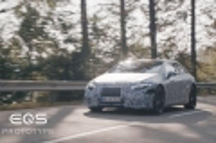 Un vídeo del Mercedes EQS 2021 mientras recarga desvela secretos de la batería