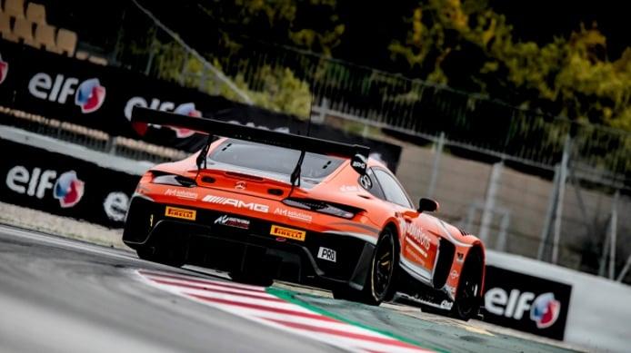La lluvia regala al Lamborghini #14 la primera pole de la Sprint Cup en Montmeló