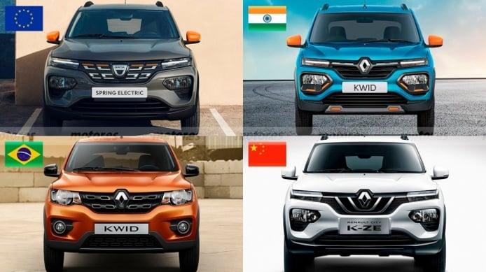 Dacia Spring, Renault Kwid y Renault City K-ZE