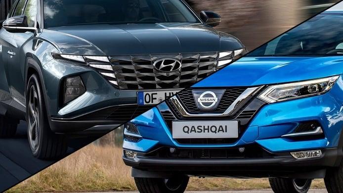 Hyundai Tucson 2021 vs Nissan Qashqai, duelo de SUV compactos líderes