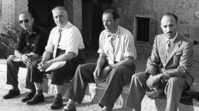 Enzo Ferrari junto a Franco Cortese