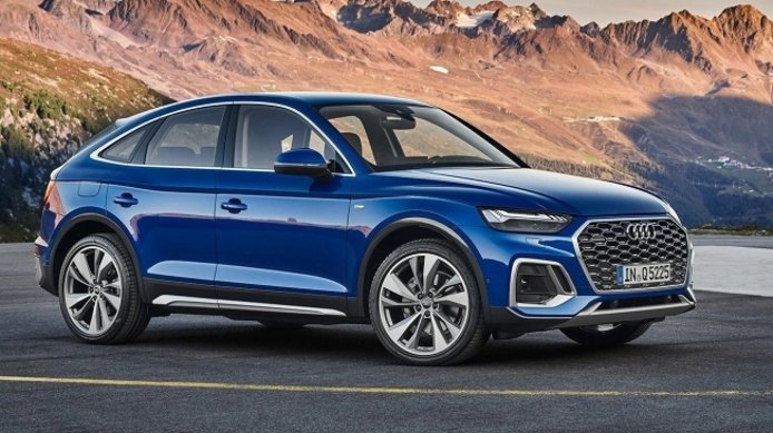 Audi Q5 Sportback nuovi suv 2021 dealer on fire