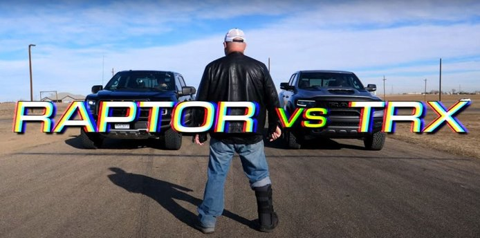 Duelo off-road extremo: RAM 1500 TRX vs. Ford F-150 Raptor