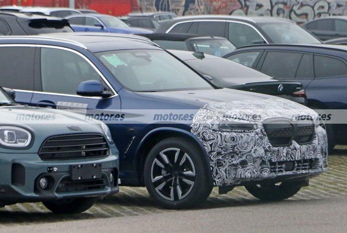 Primeras fotos espía del BMW iX3 M Sport 2022, el SUV eléctrico más deportivo
