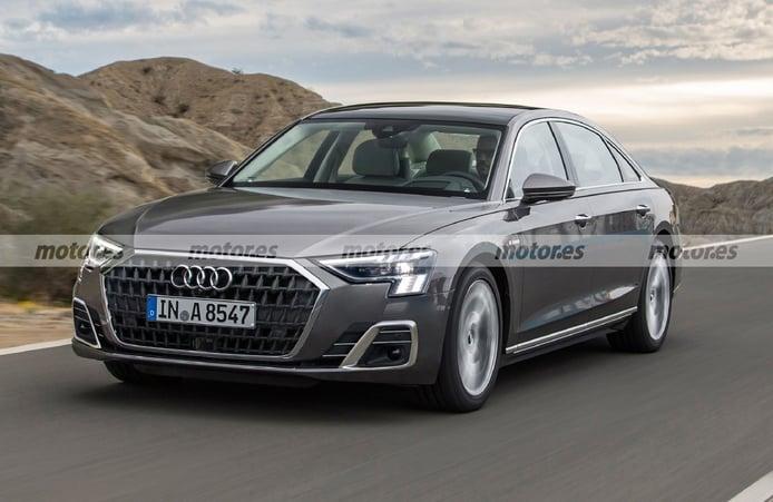 Una recreación adelanta el rediseño más fiel del Audi A8 Facelift 2022