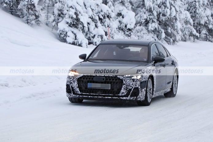 Los prototipos del Audi A8 Facelift 2022, cazados en las pruebas de invierno en Suecia