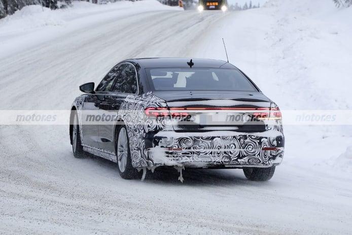 Foto espía Audi A8 Facelift 2022 - exterior