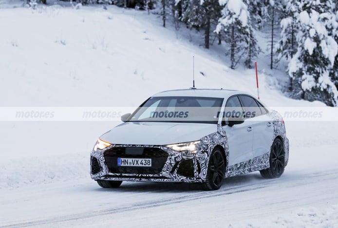 Los prototipos del nuevo Audi RS 3 Sedán 2021 afrontan sus últimas pruebas de invierno