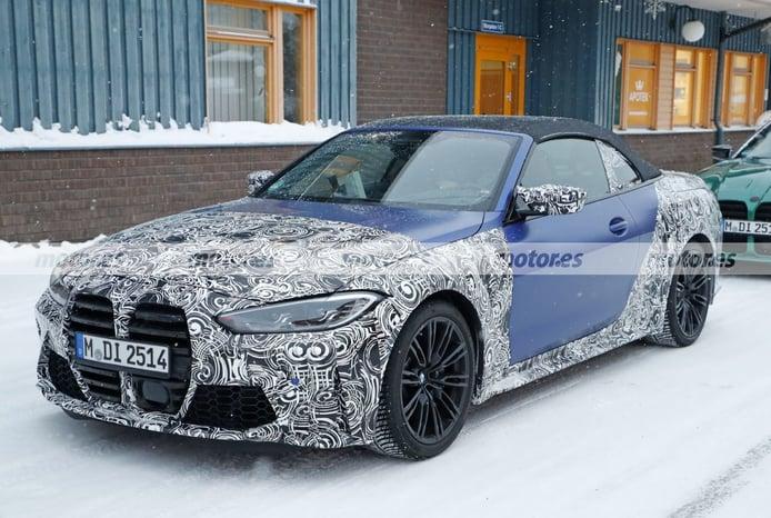 El nuevo BMW M4 Cabrio G83, cazado en una jornada de pruebas de invierno