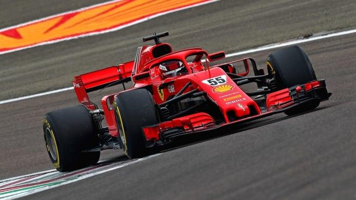 Carlos Sainz en vídeo: así fue su primer día de test con Ferrari