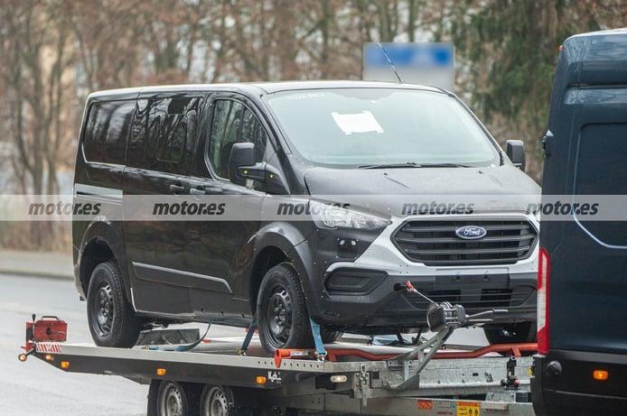 Cazada la mula del Ford e-Transit Custom 2023, fotos espía del comercial eléctrico