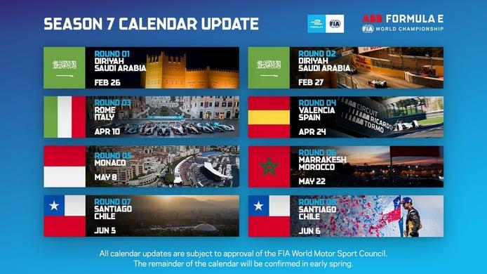 La Fórmula E anuncia su segundo bloque de carreras con un ePrix en Cheste