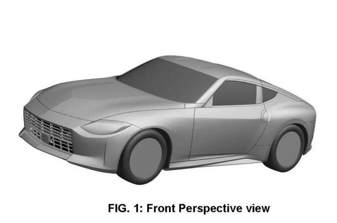 Los bocetos de patente del Nissan Z revelan su diseño definitivo