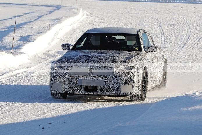 El nuevo BMW M2 Coupé 2023 reaparece en fotos espía en las pruebas invierno