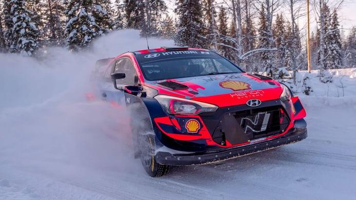 Hyundai Motorsport también arranca los test previos al Arctic Rally