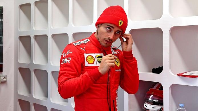 Leclerc da 110 vueltas en el primer día de test de Ferrari con los Pirelli de 18 pulgadas