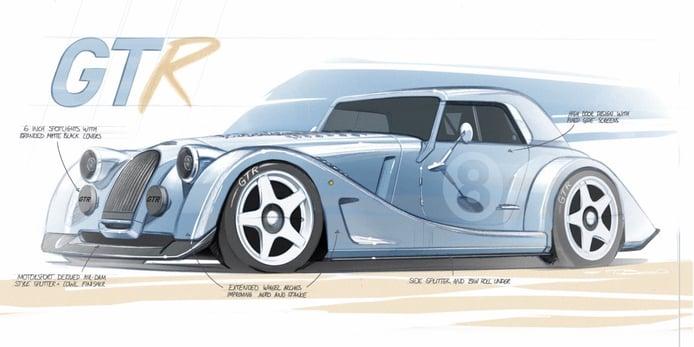 El nuevo Morgan Plus 8 GTR 2021 se asoma en estos sugerentes bocetos