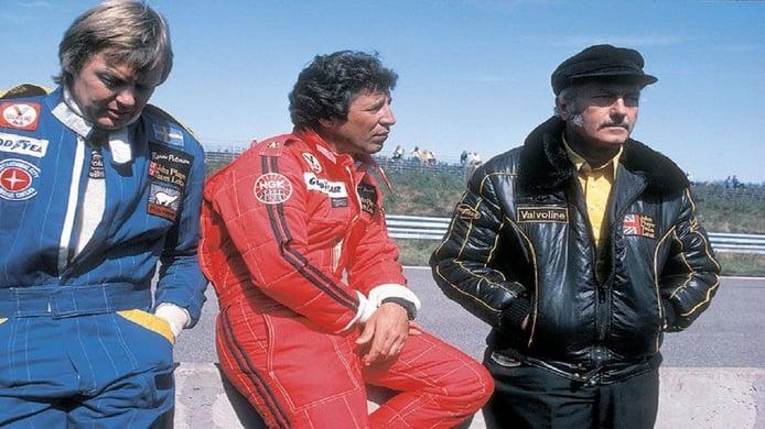 Ronnie Peterson junto a Andretti y Chapman en 1978