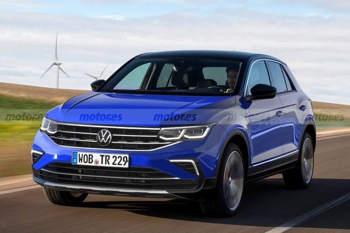 Este adelanto presenta un aire nuevo para el Volkswagen T-Roc Facelift 2022