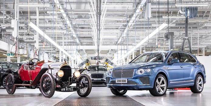 Bentley alcanza las 200.000 unidades producidas en su primer siglo de historia