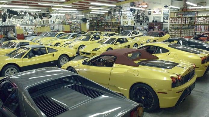 Los raros y destacables Ferrari amarillos: la única colección Ferrari amarilla del mundo