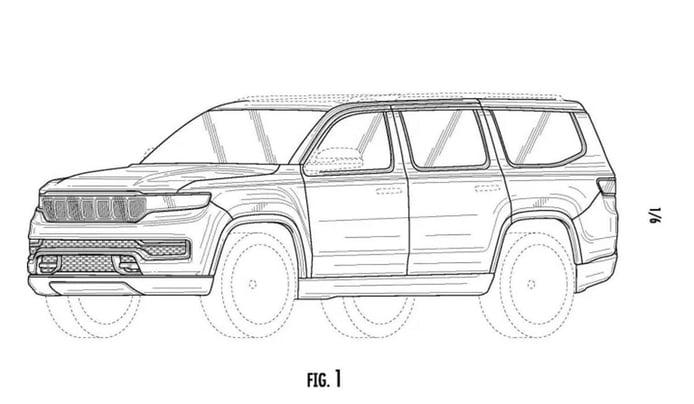 El nuevo Jeep Grand Wagoneer definitivo filtrado al completo por sus patentes