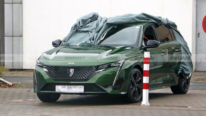 ¡Sin camuflaje! El nuevo Peugeot 308 2021 fotografiado al desnudo