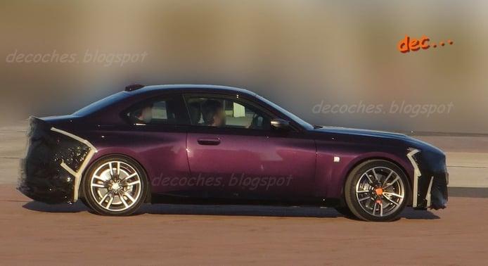 Desnudo casi integral del nuevo BMW Serie 2 Coupé 2022 en nuevas fotos espía