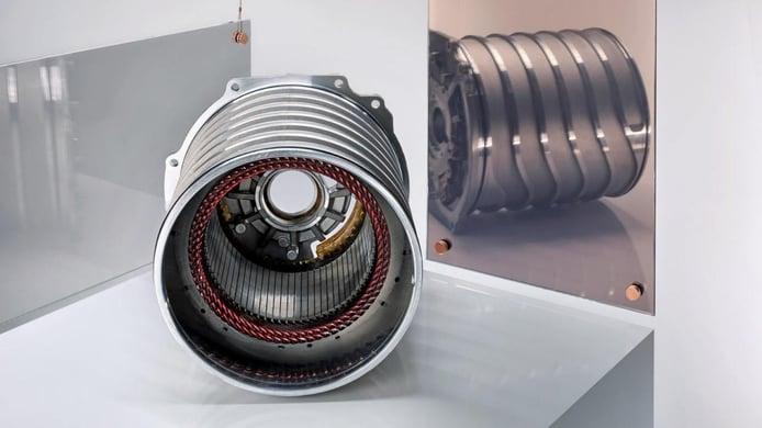Foto motor eléctrico Porsche Taycan