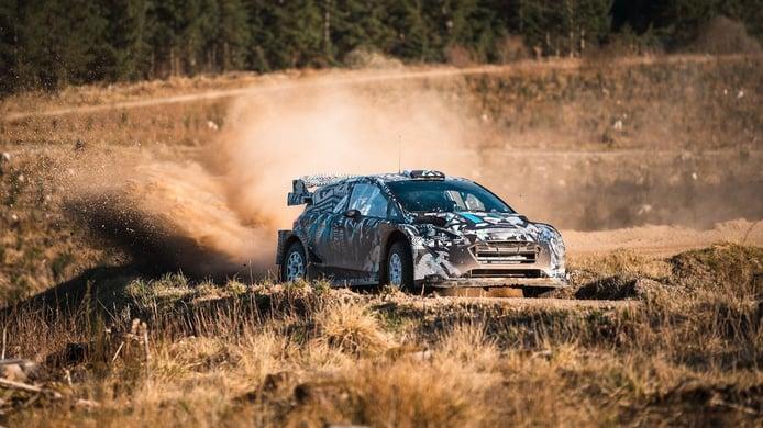 Primeras imágenes del 'Rally1' de M-Sport en los test del equipo en España