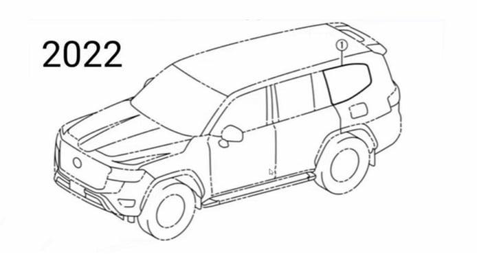 Las patentes del Toyota Land Cruiser 300 filtran la presencia de un botón GR