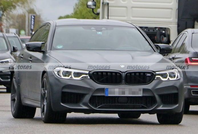 Misteriosa mula del BMW M5 Competition posa en fotos espía, ¿una edición más bruta?
