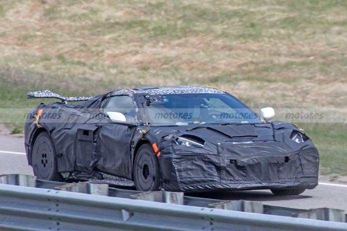 Un prototipo del Corvette Z06 cazado poniendo a prueba el Launch Control