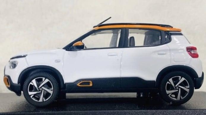 El nuevo Citroën C3 transformado en SUV queda al descubierto en esta miniatura
