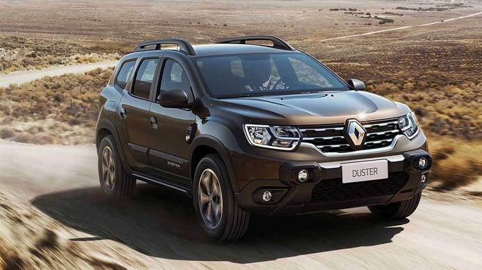 Colombia - Abril 2021: El Dacia Duster bajo la marca Renault roza la victoria