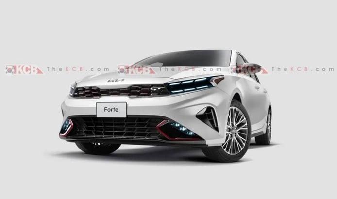 La actualización del KIA Forte GT Line 2022 se filtra en la red