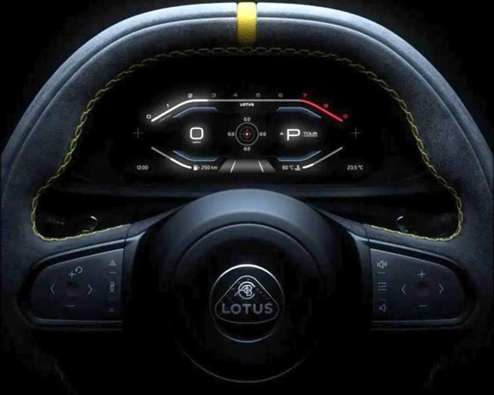 El tecnológico puesto de mandos del nuevo Lotus Emira desvelado a modo de teaser