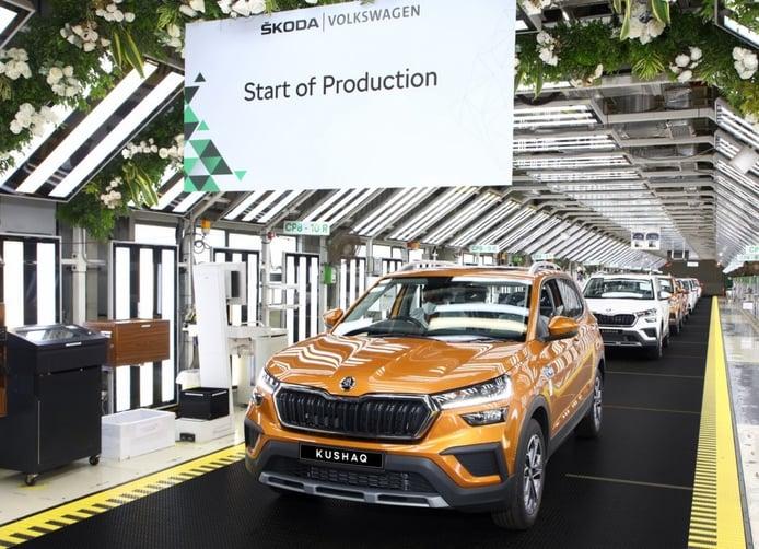 El Skoda Kushaq para India entra en producción, las entregas en julio
