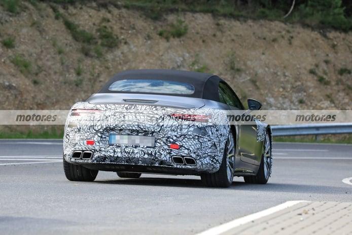 foto espía Mercedes SL Roadster 2022 - exterior
