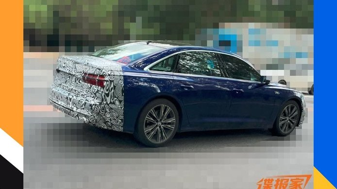 Foto espía Audi A6 L Facelift 2022 para China - exterior