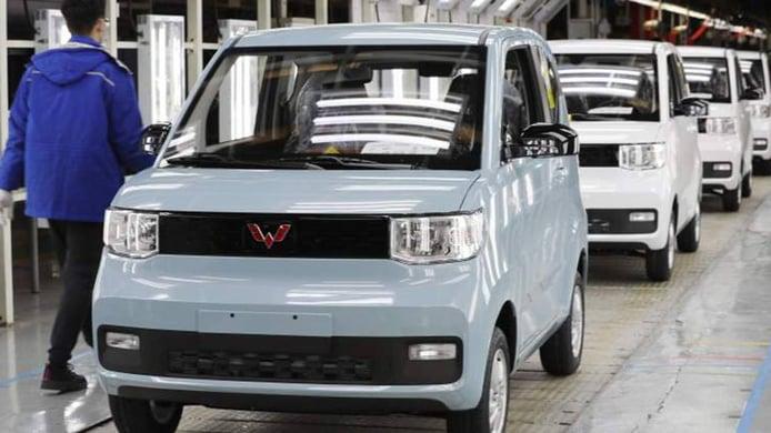Producción del Hongguang Mini EV