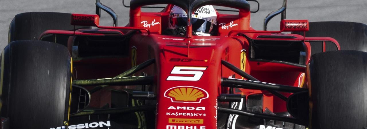 Sebastian Vettel: foto panorámica