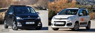 Fotos comparativa Fiat Panda y Peugeot 108 Foto 1