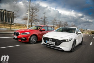 Fotos comparativa Mazda3 vs BMW Serie 1 Foto 2